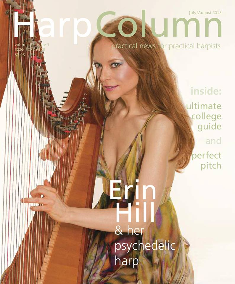 Erin Hill On The Cover Of Harp Column Magazine Erin Hill Harp